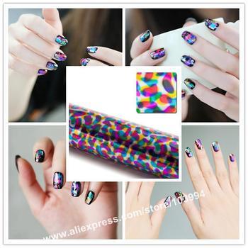 Hot! Free Shipping 5POTS Laser Nail Art Decoration Nail Sticker Film Nail Glitter Foil Salon Nail Fashion