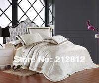 FreeShip EXPRESS luxury bedding set silk Floral Jacquard Designer's  bedding set 4 pcs bedspreads /duvet cover/pillow king/queen