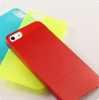 Super material 0.5mm Ultrathin Dulll Polish case for iphone5 New design Salix leaf hole Dull Polish case Soft PC case cover