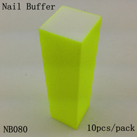 [ Retail ] High-Quality Fluorescent Yellow Nail Buffer Block File 4 Way Shine, 10pcs/lot  + Free Shipping