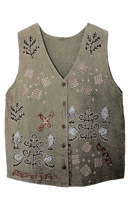 Vintage hippie vintage national embroidery trend pattern decorative pattern 100% vintage cotton vest clip vest