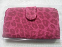 Leopard Cell Phone Flip Pouch Wallet Case Cover For Galaxy SIII Samsung S3 I9300 with retail package free shipping china post(China (Mainland))