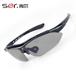 2013 Bike Cycling Eyewear Outdoor Polarized Night Vision Goggles Myopia Sunglasses Sports 5 Colors Lens Free Shipping(China (Mainland))