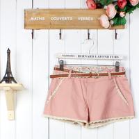 2012 sweet all-match laciness ice cream belt shorts