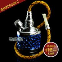 Free Shipping! Acrylic 15.2*5.4*6.3CM Mini Water Smoking Pipe Shisha Hookah 4 colors Option , ZB-510