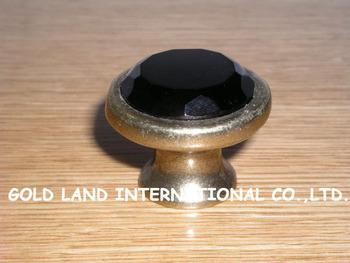 D38xH27mm Free shipping crystal glass bronze-coloured cabinet knob drawer knob kitchen door wardrobe knob