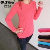 Sweater plus velvet thickening wool velvet long-sleeve T-shirt berber fleece basic casual slim blousier 2
