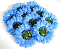 10  BIG Gerbera Daisy Heads Artificial Silk Flower  7color 3.5 inches