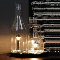 Unique table lamp bedroom bedside lamp transparent
