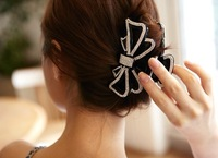 FREE SHIPPING!!! 2013 Korea imported  exquisite luxury set auger drill  bowknot hairpin, scratching clip hair FREE SHIPPING