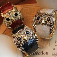 Free Shipping fashion vintage enamel owl cloisonne bracelets & bangles jewelry bijouterie woman 2014 new wholesale mix lot CB042
