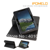 360 degree rotating Leather Cover Case for ASUS VivoTab Smart ME400C 10.1  free air mail