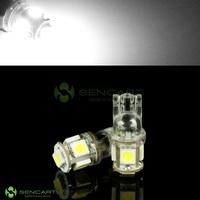 T10 24V 5X5050 SMD LED White 6000K intrior Door Trunk Side mark bulb for Truck & Boat
