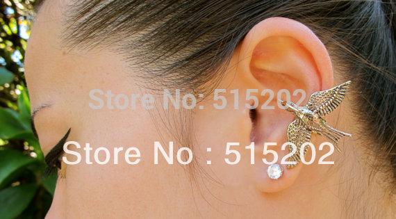 swallow ear cuff latest bird Ear Clip pop alloy earrings jewelry LM-C140(China (Mainland))