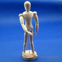 Free Shipping 20cm Flexible Schima Human Wooden Puppet Model Toy YU0043