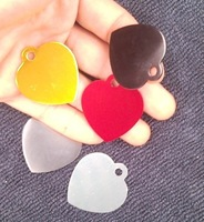 hot sale fashion  3.5*3.2cm    alumina  heart shaped pet id tag  free shipping