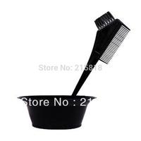 Professional hair tools black hair bowl hot oil hair mask plastic bowl brush set