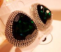 Female big zircon fashion vintage earrings stud earring