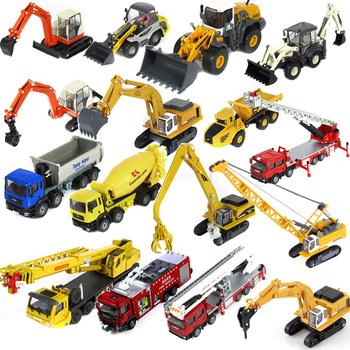 Alloy engineering car model forkfuls mining machine crane truck bulldozer fire truck 16