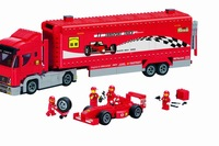 Without original box No 406 F1 Transport Truck Enlighten Building Block Set 3D Construction Toys Educational toy for Children
