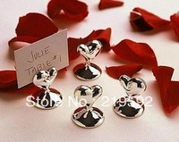 Free Shipping Wedding Gifts, Place Card Holders, Heart Shaped, Sold as 20 pcs per Lot
