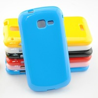 Candy Colour Soft TPU Case for Samsung Galaxy Trend i699 S7568 S7562i Back Cover Cellphone Cases 20pcs/Lot Freeshipping