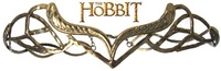 ELROND CROWN The HOBBIT Elf Elven Wreath Gold Tolkien Costume Accessory LOTR NEW