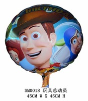 45*45cm Hot-selling Toy Story cartoon balloon birthday round  balloons christmas gifts for party decorations  free shipping