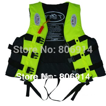 Free Shipping adult marine life buoy flotation air jacket fishing life vest life jacket with leg belt & whistle