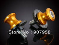 Hot ! 8MM CNC motorcycle Swingarm Sliders Spools Fit For Suzu Ki Year all Gold