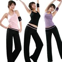 2013 Fashion Lady  female summer yoga clothes set tank aerobics clothing Sports Suit  Free Shipping