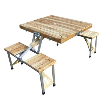 Pine wood folding table one piece folding table portable outdoor folding portable tables and chairs set outdoor table picnic