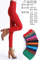 2014 new arrival women fashion slim elastic Candy colors legging pant/free shipping High quality