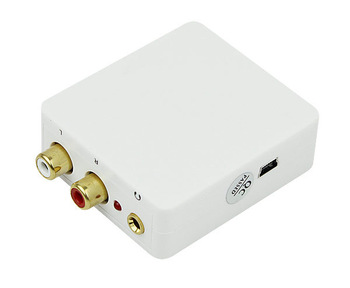Digital to Analog Audio Converter Adapter Coaxial SPDIF/Toslink Signal to RCA L/R D2254B  Alishow