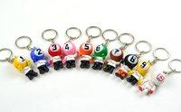 Billiard key chain, pool keyring , pool Christmas ornaments,billard accessories,promotional key rings