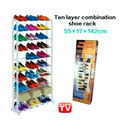 High quality shoe hanger large capacity 10 combination shoe hanger plastic storage rack shelf(China (Mainland))