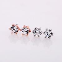 Austria crystal titanium anti-allergic zhaohao 14k therapeutic lovers stud earring boxed