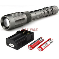 Trustfire Z6 / Z5 5 Mode 1600 Lumen CREE T6 LED Flashlight Zoomable Adjustable+2 *3000mah batteries+charger,Free Shipping
