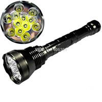 Super Powerful UltraFire 12T6 13800-Lumen 12xCree XM-L T6 5-Mode Memory LED Flashlight Torch(3x26650/3x18650) + free shipping