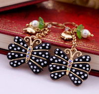 Fashion fashion earrings accessories polka dot butterfly women's earrings