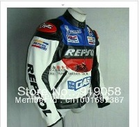 Free shipping 1 piece DUHAN REPSOL PU leather motorcycle jacket,racing jacket S-XXL