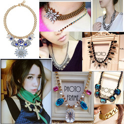 New year fashion multi-layer four leaf grass rhinestone pearl long design necklace female sweater(China (Mainland))