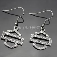 Free Shipping! 5pair/lot  Wholesale Zinc Alloy  crystal Motor Bike Stud Earring