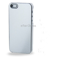 Pineapple Grain Texture Metal Sheet Paste Plastic Case for iPhone 5 (Silver)(China (Mainland))