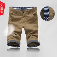 Roll-up hem fashion summer male trousers casual shorts male fashion