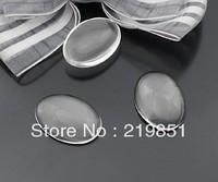 30*40mm  transparent oval shape glass cabochon,pendant setting cabochon 17