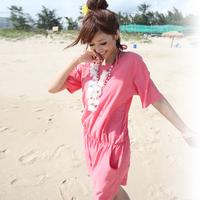 Free shipping 2013 hot spring swimwear women's one-piece dress swimwear bikini small push up swimwear