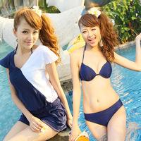 free shipping Hot spring swimwear female one piece swimwear bikini small steel push up swimwear