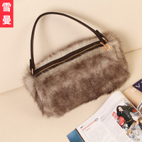 Winter gossip 2013 hot-selling fashion handbag messenger bag rabbit fur wool women's handbag