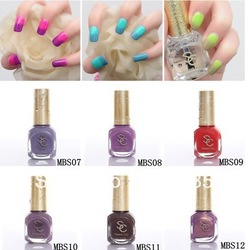 Sweet Color environmental protection nail polish Temperature change nail polish of 12ml(China (Mainland))